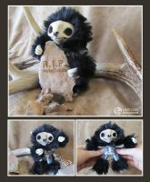 Skeleton Mini Sloth by LimitlessEndeavours