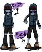Kurt and Russle by YwiiOax