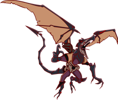 Omega Ridley Metroid Prime 3 by extremesonic101