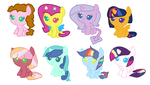 Adoptables #10 (Shipping foals) by TwilightAndDashie