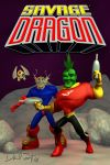 Savage Dragon cover with Vanguard 9-2014-Sergent by DFSergent