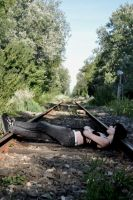 Waiting for the Train by April-Hennigan