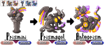GBA Pkmn hack: Pokemon 6-Grotesque Glass Gargoyles by dragon-du-22