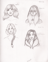 Random sketches 3 by Chloe-The-Great