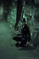 Catwoman with her back against the wall by fancydressqueen