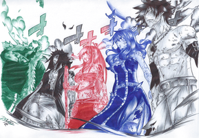 GLORIA - 322 We are Fairy Tail (ballpoint pen) by passion00