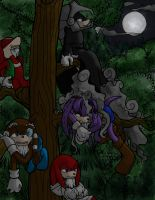 Up a Tree Color by Dreadmon