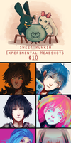 Experimental Headshots Commissions! by MoonlightTheWolf