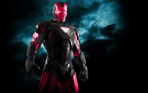 Iron Man Mix Black + Pink by 666Darks