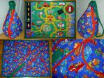 ShuttleCity 1  Playmat Tote by SmilingMoonCreations