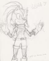 Light 7 the Hedgehog by OctoberReign