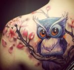 Cute-Owl-Tattoos by Naseryano