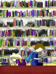 at the library by Formor