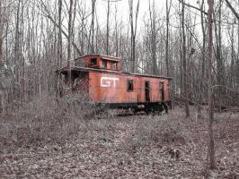Forgotton Red Caboose by rcbif