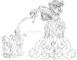 Heironymous Meat Tree by GreyThornberry