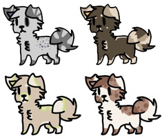 Puppy Adoptables Three |Closed| by LeveButt