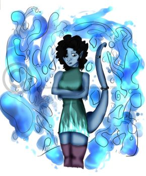 Water civillian colored by darkmoonfairy