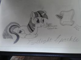 Twilight's letter to celestia by French-Brony2727
