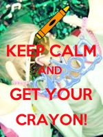 Crayon Keep Calm Poster by Xinahs