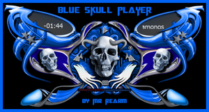 Blue Skull Player by Mr Rearm by MrRearm