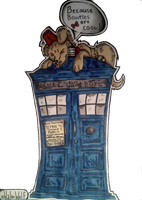 Doctor Who as a dog by HalooWolfie