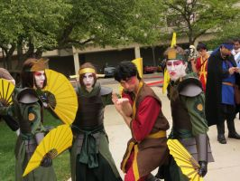 Zuko and the Kyoshi Warriors by scoldingspirit84