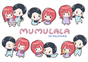 MUMULALA love pajamas by NINJALI8HT