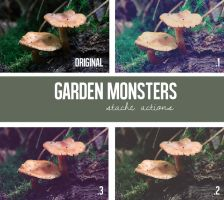 Garden Monsters Action Pack by StacheActions