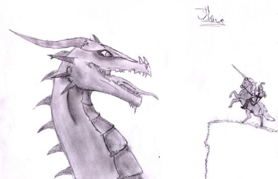 George and the dragon by jackalius