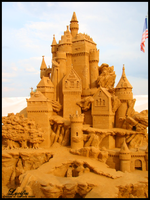 sand castle by Lucifiu