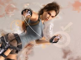 Abstract Tomb Raider by Julushko-navara