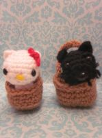 Toto Basket Wizard of Oz Hello Kitty Amigurumi1 by Spudsstitches