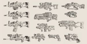 """Alien Earth"" Weapons by MattRIllustration"