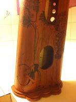 Celtic Harp Pyrography 3 by fanfreluche3567