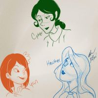 Heather, Yan, and Cipher by BabyPhat268
