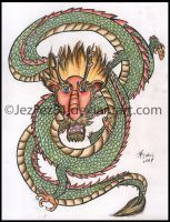 My Chinese Dragon- Coloured by Jezzy-Fezzy