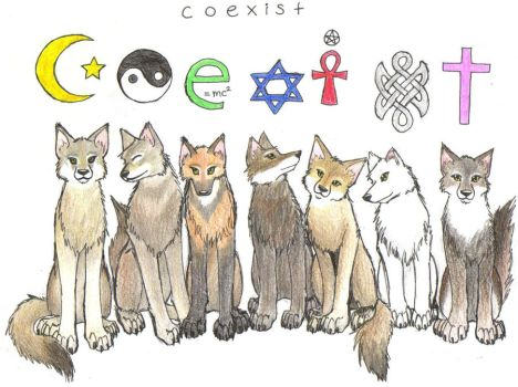 Coexist by AirWolfDemon