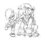 Alicia and Scourge the Werehog by Chauvels
