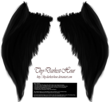 My Soul to Keep Wings - Black (Free) by Thy-Darkest-Hour