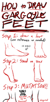 Gargoyle Feet TUTORIAL by DragonsLover1