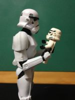 Daddy trooper and Baby trooper by Sovereign64