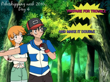 Protecting each other (Pokeshipping week 2016) by Marsy3