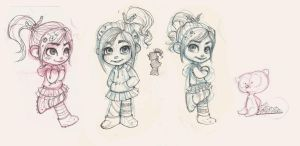 vanellope + bear by weiliwonka