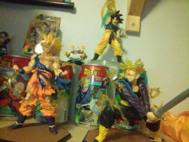 Goku and Trunks figuarts!! by nial09