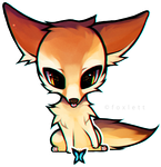 Fennec Fox by foxlett