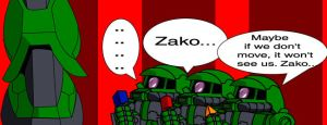 Zaku vs Zako by TheWax
