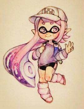 Watercolor squid by SquidKidBanana