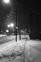 Cuyahoga Falls Ave. winter3 bw by coffeenoir