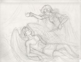 WIP-Psyche's Discovery 2-Pencils by queenbean3
