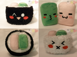 Sushi Plushie by LiLMoon